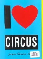 Circus - 4ème de couverture - Format classique