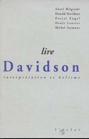 Lire Davidson - Interpretation Et Holisme - Couverture - Format classique