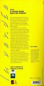 14-18 ; les poilus de vendée - 4ème de couverture - Format classique
