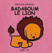 Badaboum le lion - Couverture - Format classique