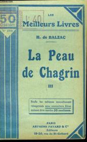 La Peau De Chagrin - Tome 3 - Couverture - Format classique