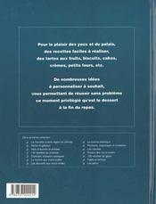 Tartes et gateaux - 4ème de couverture - Format classique