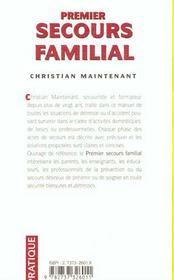 Premier secours familial - 4ème de couverture - Format classique