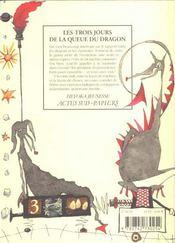 Les Trois Jours De La Queue Du Dragon - 4ème de couverture - Format classique