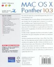 Mac os panther ; guide visuel pratique - 4ème de couverture - Format classique