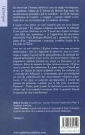 Histoire du moyen-age tome 3 - 4ème de couverture - Format classique