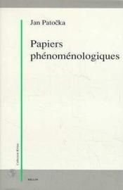 Papiers Phenomenologiques - Couverture - Format classique