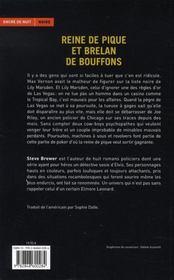Reine De Pique Et Brelan De Bouffons - 4ème de couverture - Format classique