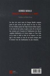 Charlotte D'Ingerville ; Sainte - 4ème de couverture - Format classique