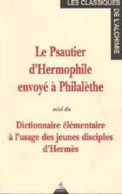 Dictionnaire Elementaire A L'Usage Des Jeunes Disciples D'Hermes - Couverture - Format classique