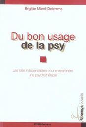 Du Bon Usage De La Psy - Intérieur - Format classique