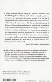 Destinée et salut ; essai de théologie poétique à propos de deux romans de Joseph Conrad - 4ème de couverture - Format classique
