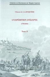 L'Expedition D'Egypte T.2 - Couverture - Format classique
