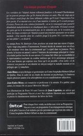Porte 54. Itineraire D'Une Psychose - 4ème de couverture - Format classique