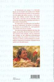 Le Parler Des Metiers Dictionnaire Thematique Alphabetique - 4ème de couverture - Format classique