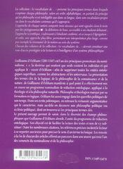 Guillaume D'Ockham - 4ème de couverture - Format classique