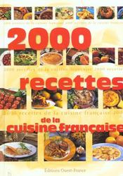 2000 Recettes De La Cuisine Francaise - Intérieur - Format classique