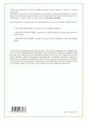 Des Mots Pour Lire ; Apprendre A Lire A Tout Age - 4ème de couverture - Format classique