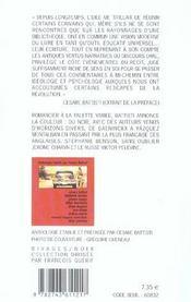 Terres Brulees - 4ème de couverture - Format classique