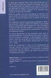 Histoire du moyen-age tome 4 - 4ème de couverture - Format classique