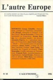 A10 Autre Europe (L') Minorites - Couverture - Format classique