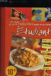 220 recettes faciles et pas chères pour étudiants - Couverture - Format classique