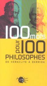 Cent mots pour cent philosophes - Intérieur - Format classique