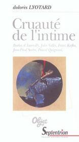 Cruaute De L'Intime - Intérieur - Format classique