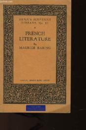 French Literature - Benn'S Sixpenny Library N°52 - Couverture - Format classique