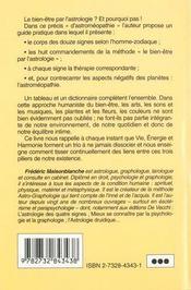L'Influence De L'Astrologie Sur La Sante - 4ème de couverture - Format classique