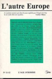A11/12 Autre Europe (L') 30 Ans Opposition - Couverture - Format classique