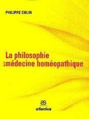 La philosophie de la médecine homéopathique - Couverture - Format classique
