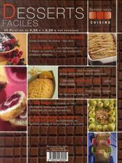 Desserts faciles - 4ème de couverture - Format classique