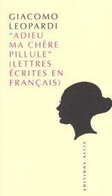 Adieu Ma Chere Pillule - Intérieur - Format classique
