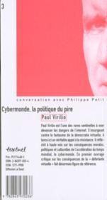 Cybermonde La Politique Du Pire ; Edition 2001 - 4ème de couverture - Format classique