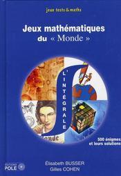 Intégrale des jeux du Monde ; 500 problèmes - Intérieur - Format classique