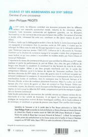 Bilbao Et Ses Marchands Au Xvi Siecle ; Genese D'Une Croissance - 4ème de couverture - Format classique