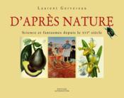 D'apres nature – Laurent Gervereau – ACHETER OCCASION – 04/10/2007