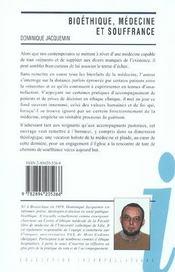 Bioétique, médecine et souffrance ; jalon pour une théologie de l'échec - 4ème de couverture - Format classique