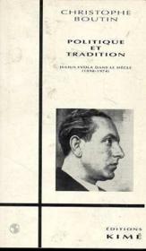 Politique Et Tradition - Couverture - Format classique