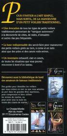 Guide de la manoeuvre des petits voiliers traditionnels ; yoles, cannot à misaine, voiles latines, sloups à corne - 4ème de couverture - Format classique
