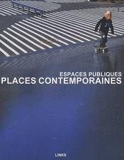 Places contemporaines ; espace public - Couverture - Format classique