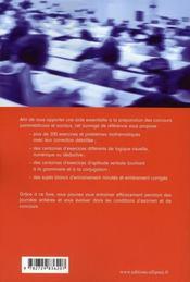 Réussir les tests psychotechniques ; tous concours paramédicaux et sociaux - 4ème de couverture - Format classique