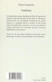 Andorra - 4ème de couverture - Format classique