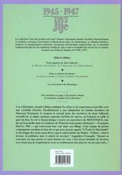 Tout Jijé t.15 ; 1945-1947 - 4ème de couverture - Format classique