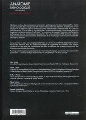 Anatomie Pathologique - 4ème de couverture - Format classique