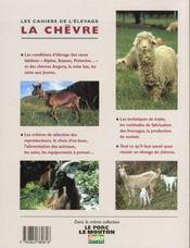 Les Cahiers De L'Elevage ; La Chevre - 4ème de couverture - Format classique