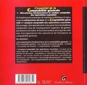 Essentiel de la comptabilite generale tome 1 operations courantes (l') - 4ème de couverture - Format classique
