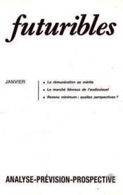 Futuribles N.106 Janvier 1987 - Couverture - Format classique