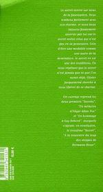Les 3 secrets ; en mémoire d'Edgard Allan Poe ; en hommage à Guy Debord ; à la rencontre du loup des steppes - 4ème de couverture - Format classique
